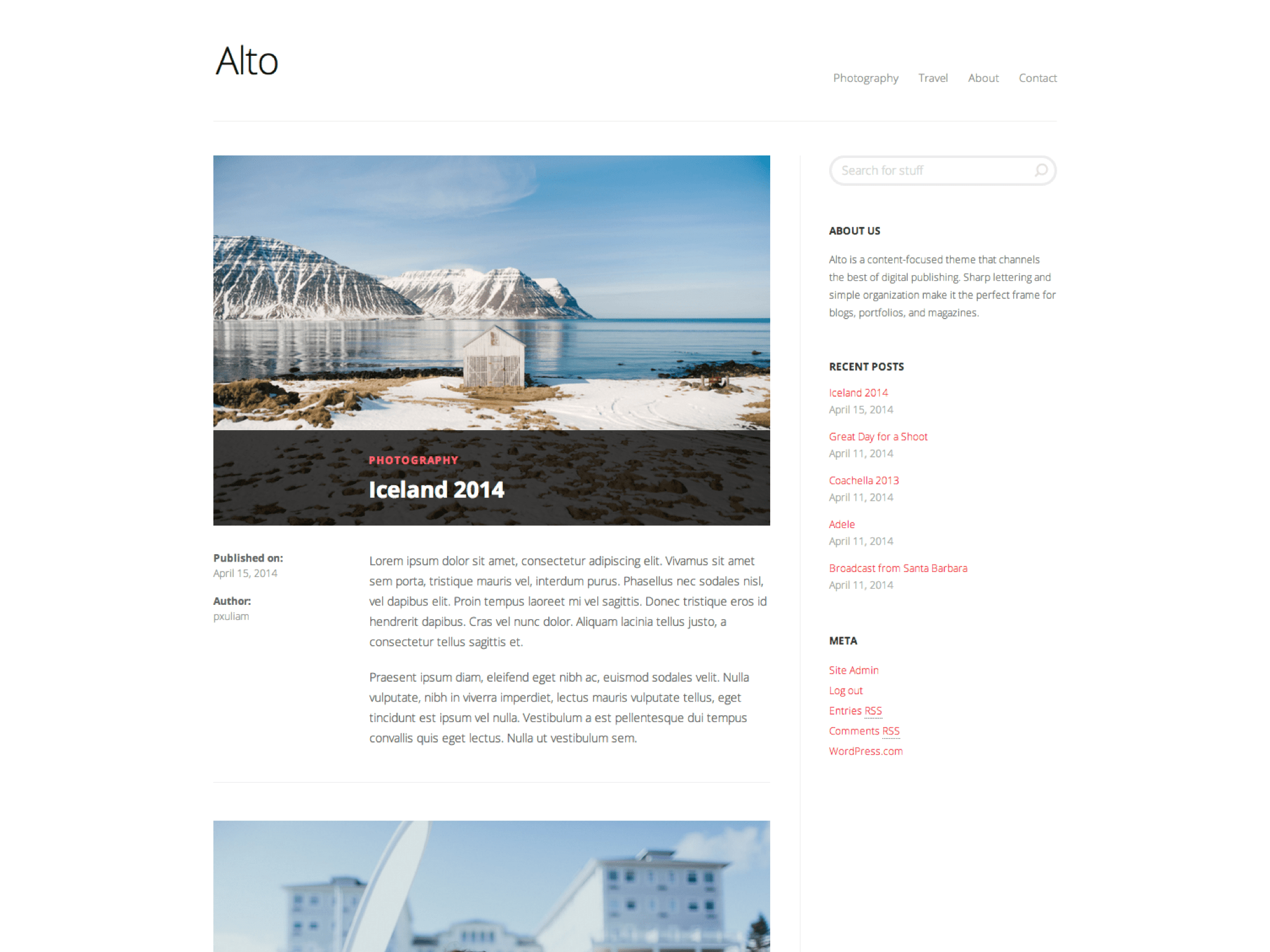 Alto WordPress Theme