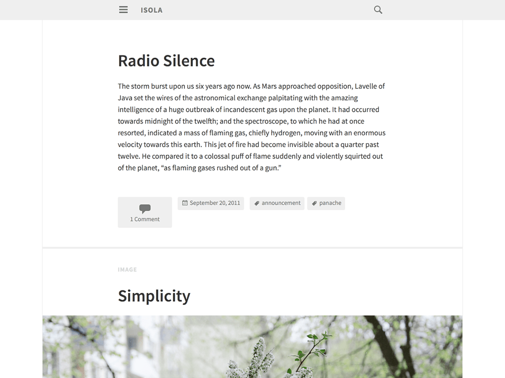 Isola WordPress Theme
