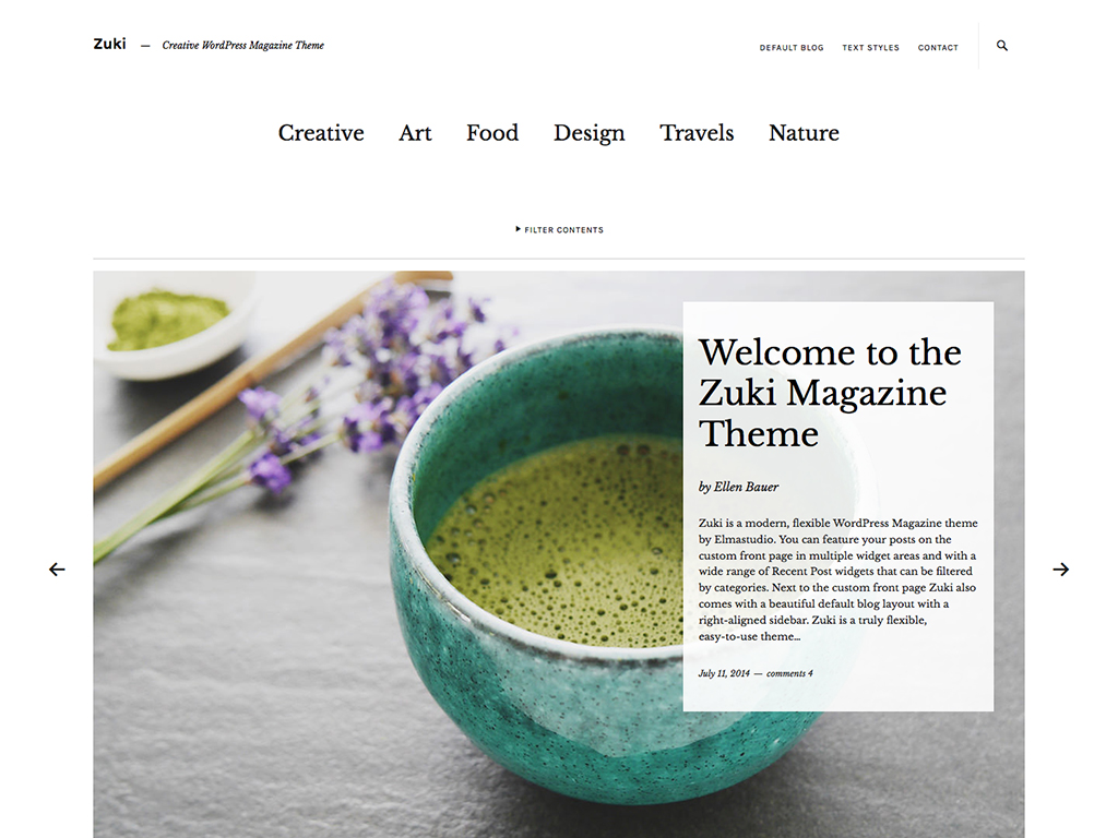 Zuki WordPress Theme