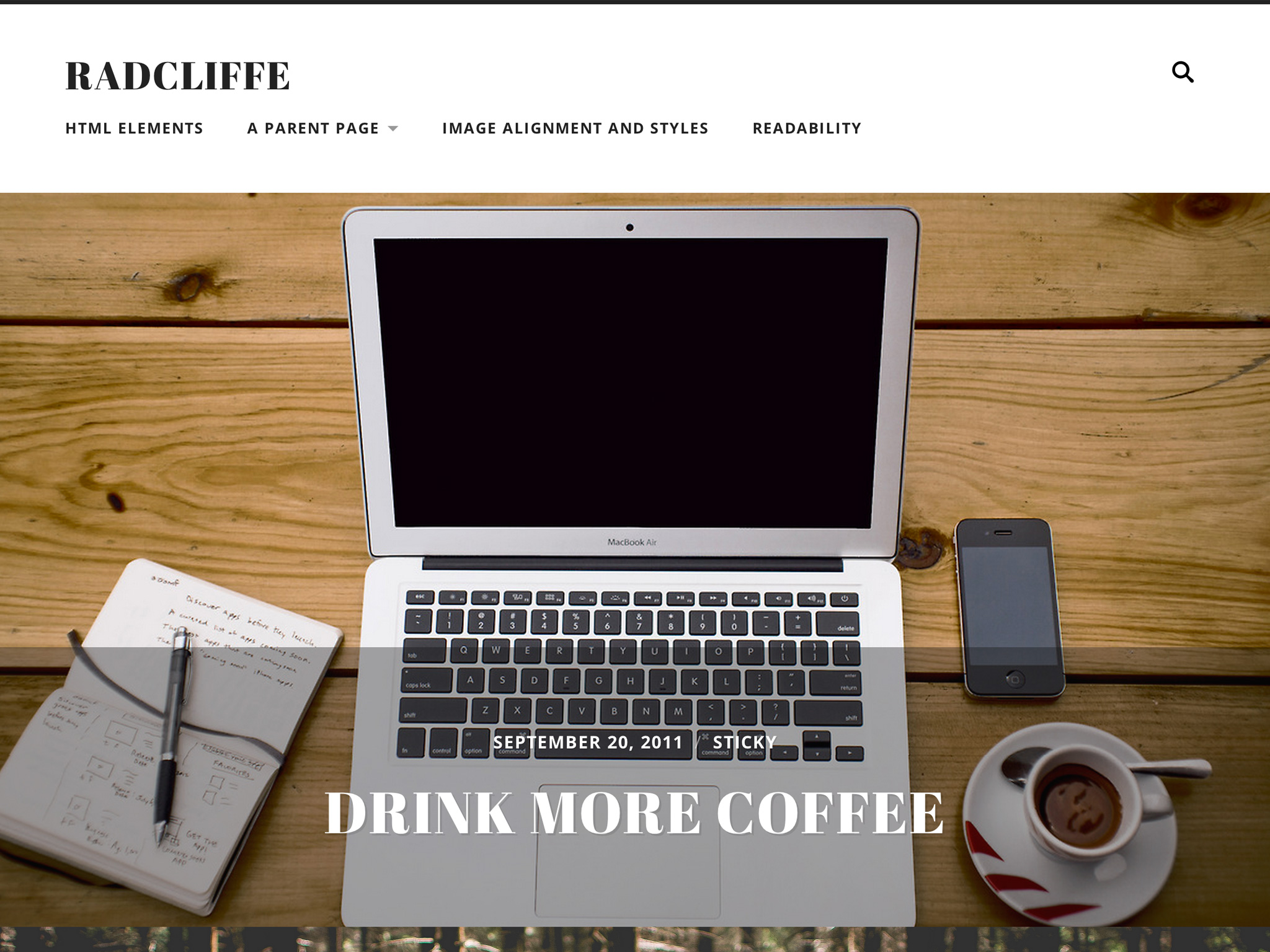 Radcliffe WordPress Theme