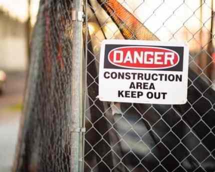 creative block - danger keep out