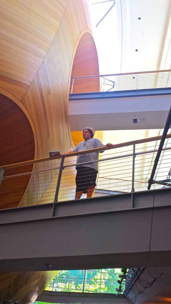 My son, Hayden, being beamed aboard the mothership at Rensselaer Polytechnic Institute