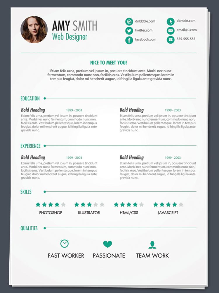 interactive resume template