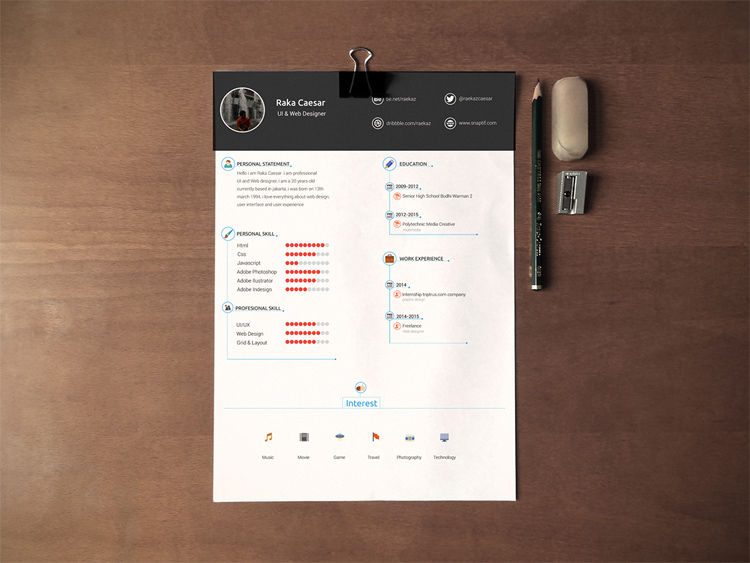 free template cv creative best