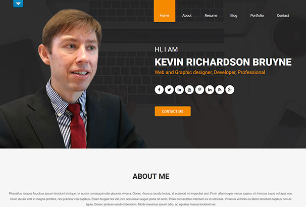40+ Best CV  Resume WordPress Themes 2017 - Resume Websites Examples