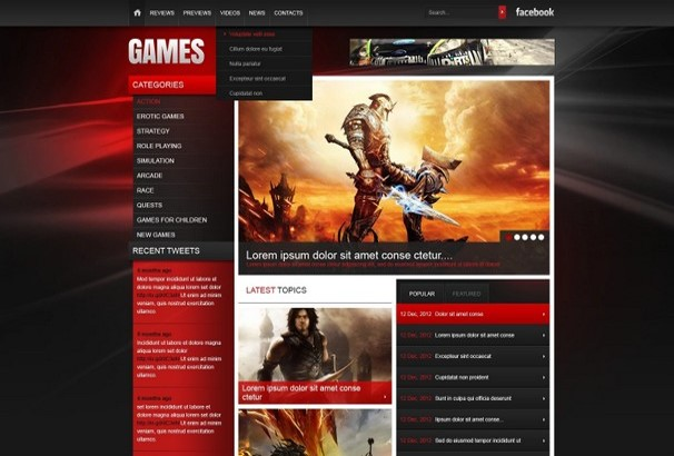 30+ Best HTML Video Games Website Templates 2017 - video game template