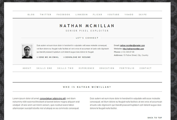 50+ Best HTML CV  Resume Templates to Download 2017
