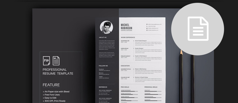50+ CV / Resume  Cover Letter Templates for Word  PDF 2017 - resume template document
