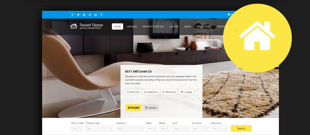 50+ Best HTML  Bootstrap Real Estate Website Templates 2017