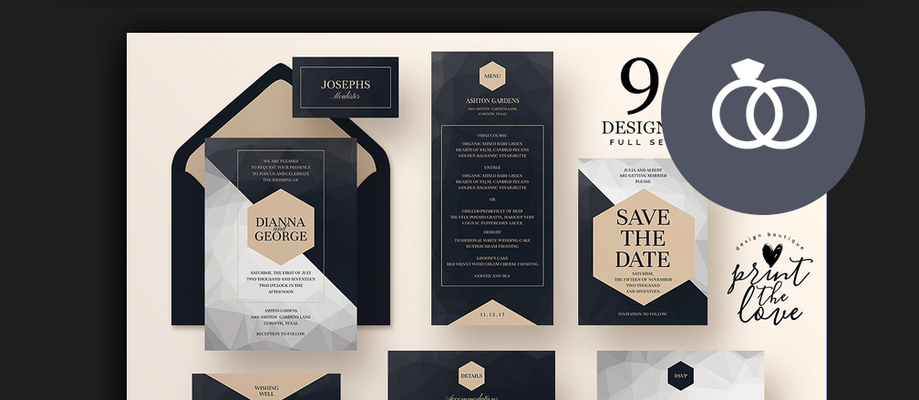 50+ Best Invitation Templates for Weddings  Parties 2017