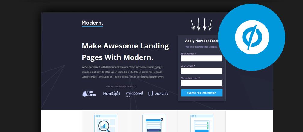 Build Beautiful Landing Pages 40+ Best Unbounce Templates 2017