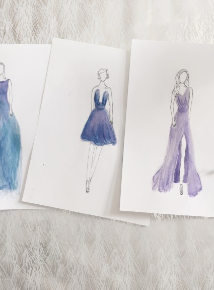 Fashion Illustrations: Gowns & Street Style