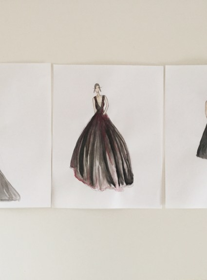 Fashion Illustrations: Black Cherry