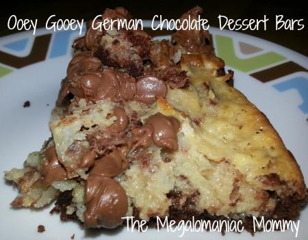 German Chocolate Dessert Bars