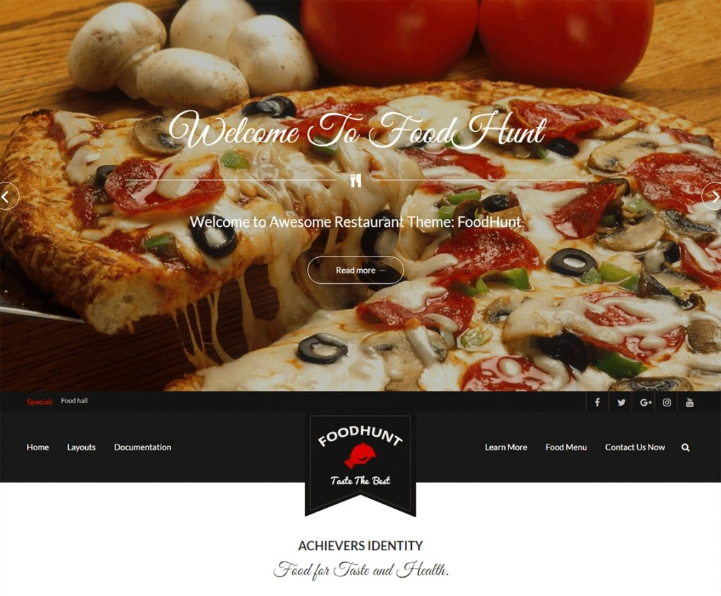 Food Resturant 10 Best Free Responsive Restaurant Wordpress Theme 2019
