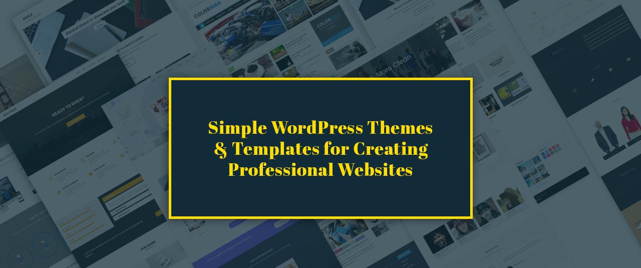 17+ Best Minimalist Simple WordPress Themes and Templates 2019