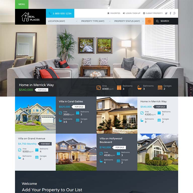 10+ Best Real Estate WordPress Themes  Templates for 2019