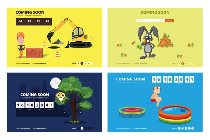 Drawer - Responsive Animated Coming Soon Template