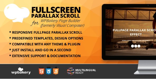 Fullpage Parallax Scroll Addon for WPBakery Page Builder
