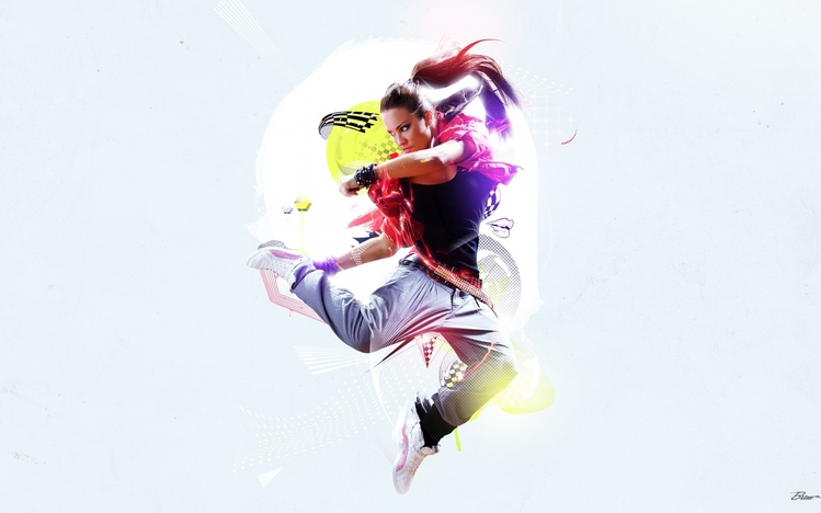 Rebel Girl Wallpaper Dance Windows 10 Theme Themepack Me
