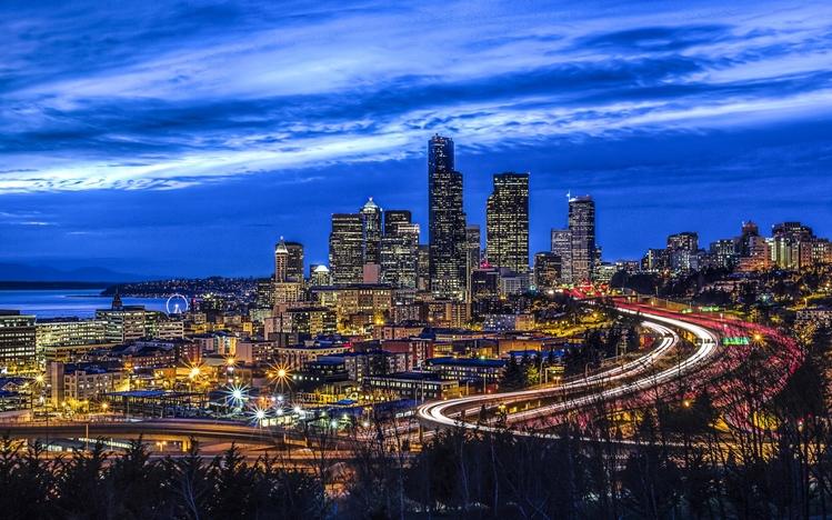 Seattle Washington Fall Skyline Wallpaper Seattle Windows 10 Theme Themepack Me
