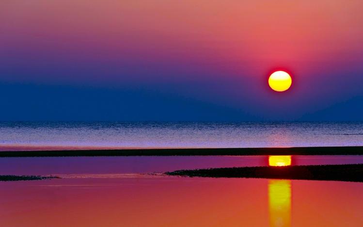 Dual Monitor Girl Wallpaper Beach Sunset Windows 10 Theme Themepack Me