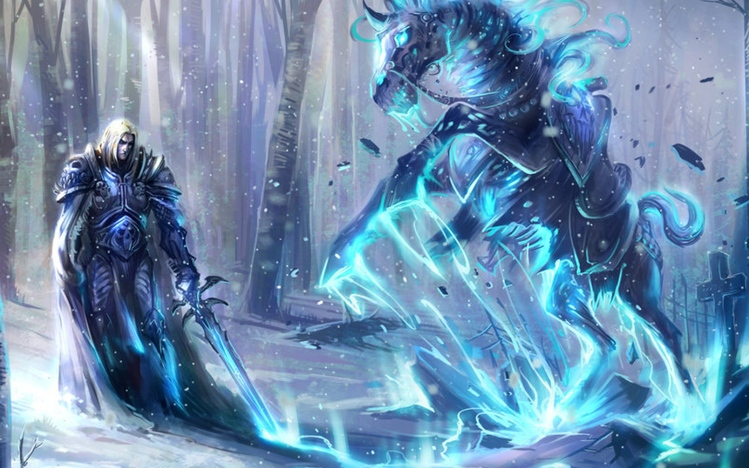 Anime Girl Playing Game Wallpaper World Of Warcraft The Lich King Windows 10 Theme