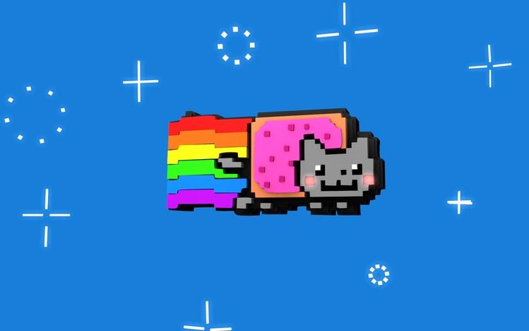 Cookie Monster Cute Wallpaper Nyan Cat Windows 10 Theme Themepack Me