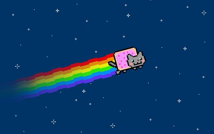 Regular Girl Wallpapers Nyan Cat Windows 10 Theme Themepack Me