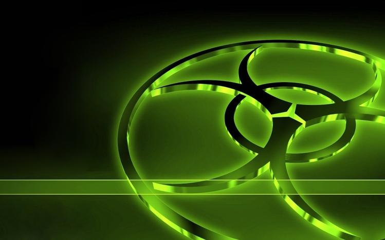 Biohazard Wallpaper 3d Neon Green Windows 10 Theme Themepack Me