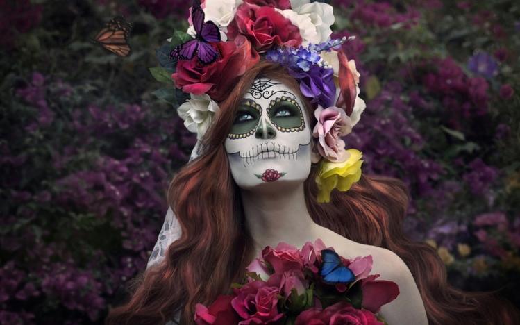 Weed Girl Wallpaper Hd Sugar Skull Windows 10 Theme Themepack Me
