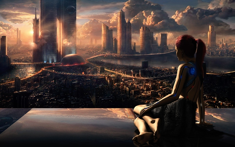 The Girl From The Other Side Wallpaper Sci Fi Windows 10 Theme Themepack Me