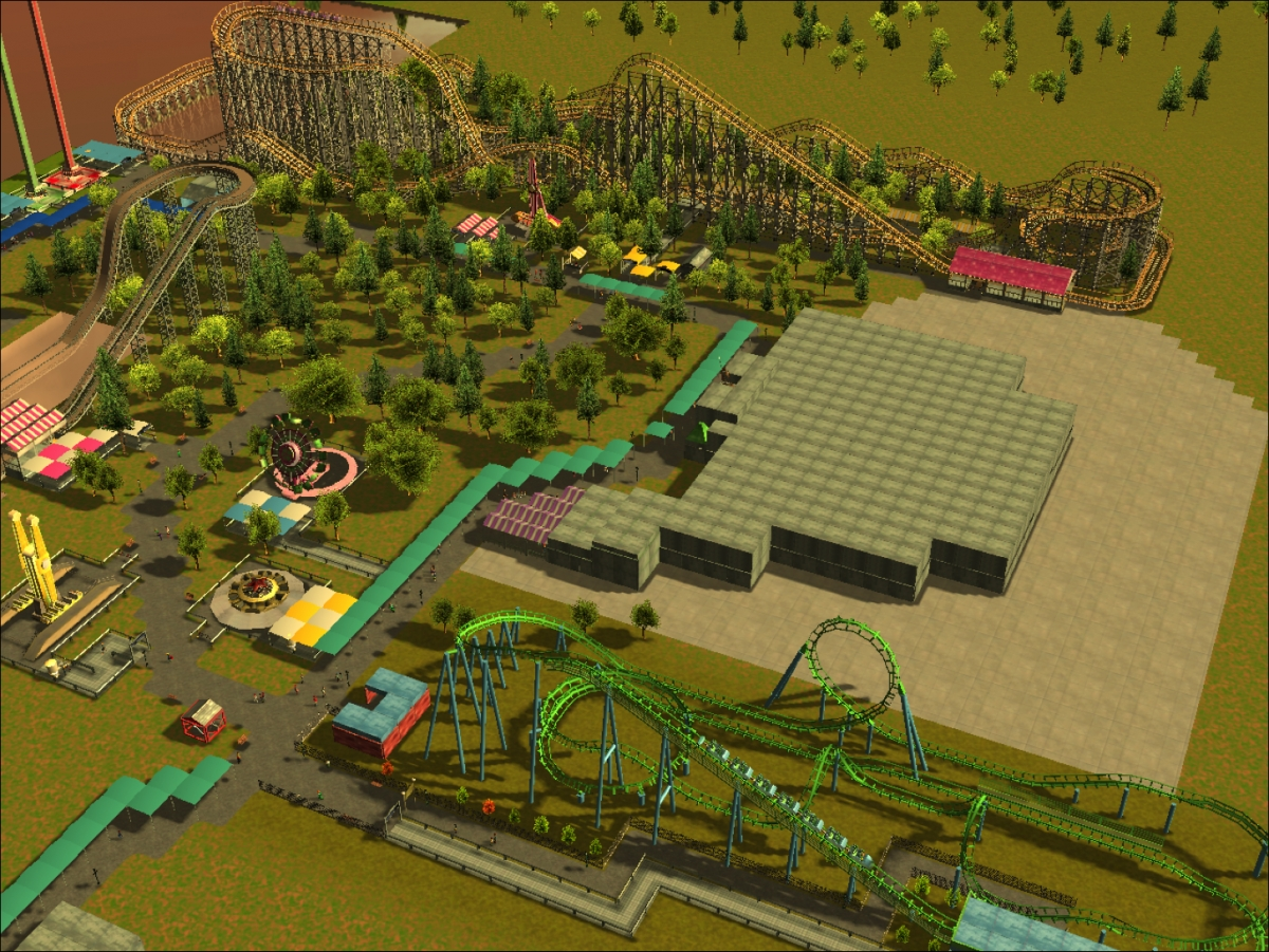 Six Flags Jazzland Theme Park Review Rct3 Magic Peak Jazzland