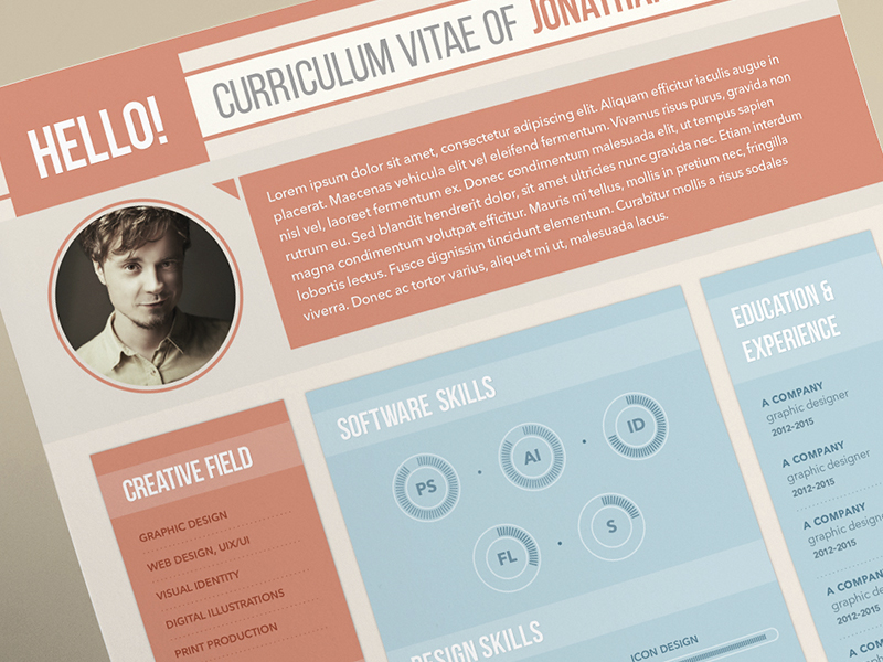 40 Free Printable CV Templates in 2017 to Get a Perfect Job
