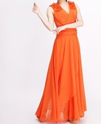 Orange bridesmaid dress, by Susiewear on etsy.com | The ...