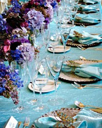 Purple and turquoise wedding inspiration | The Merry Bride