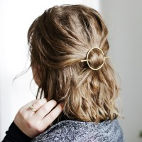 DIY Brass Circle Barrette