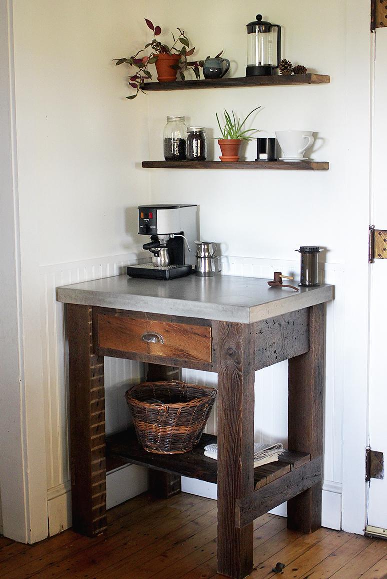 Concrete Bar Top DIY Concrete Top Coffee Bar » The Merrythought