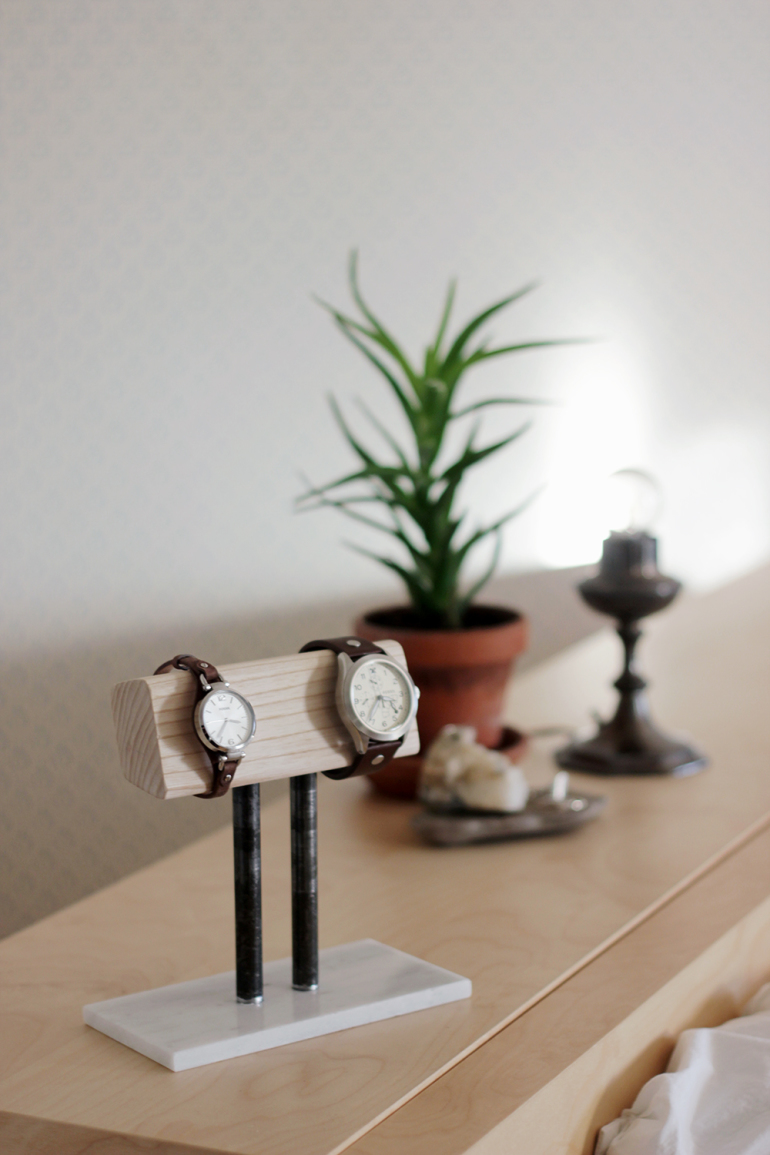 Living Room Table Wood Diy Watch Stand - The Merrythought