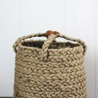 DIY Braided Jute Basket