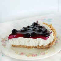 No-Bake Blueberry Cheesecake Pie