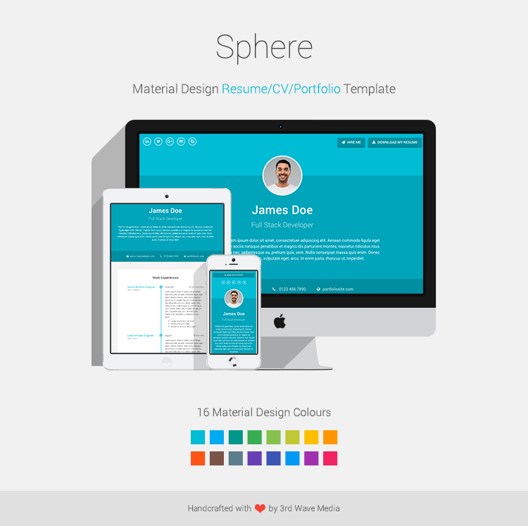 theme wordpress cv portfolio free