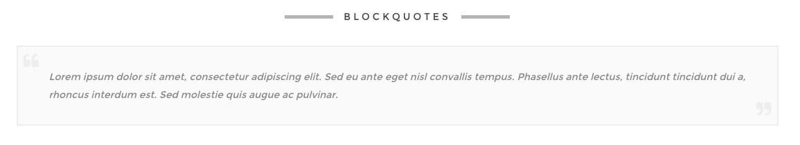 Blockquote - Artbees WordPress Themes Ken