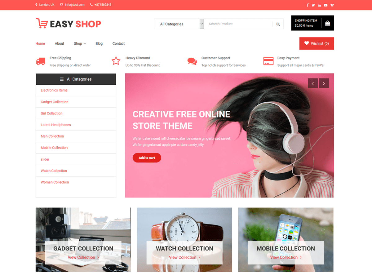 Design Online Shop Easy Shop Wordpress Theme Wordpress Org