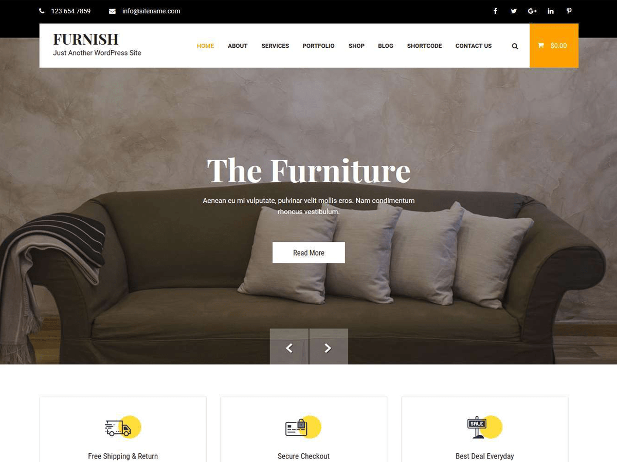The Furnish Furnish Lite Wordpress Theme Wordpress Org