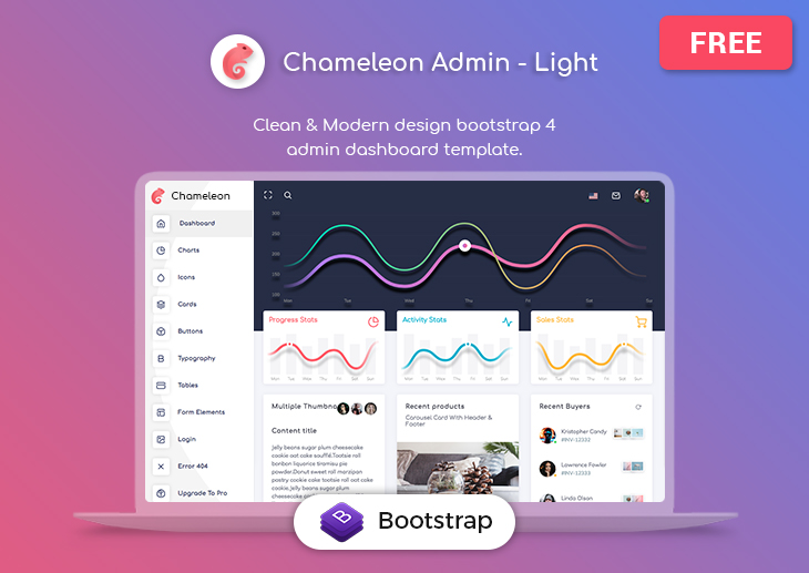 Chameleon Admin - Free Bootstrap Dashboard Template - ThemeSelection