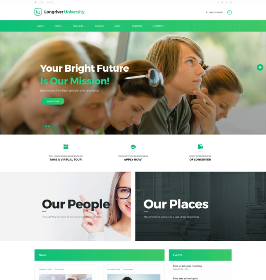 Education WordPress Themes Theme Spiration \u2014 premium wordpress themes
