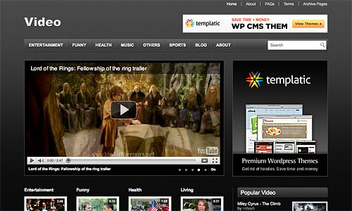 Best WordPress Video Themes Themes Tube
