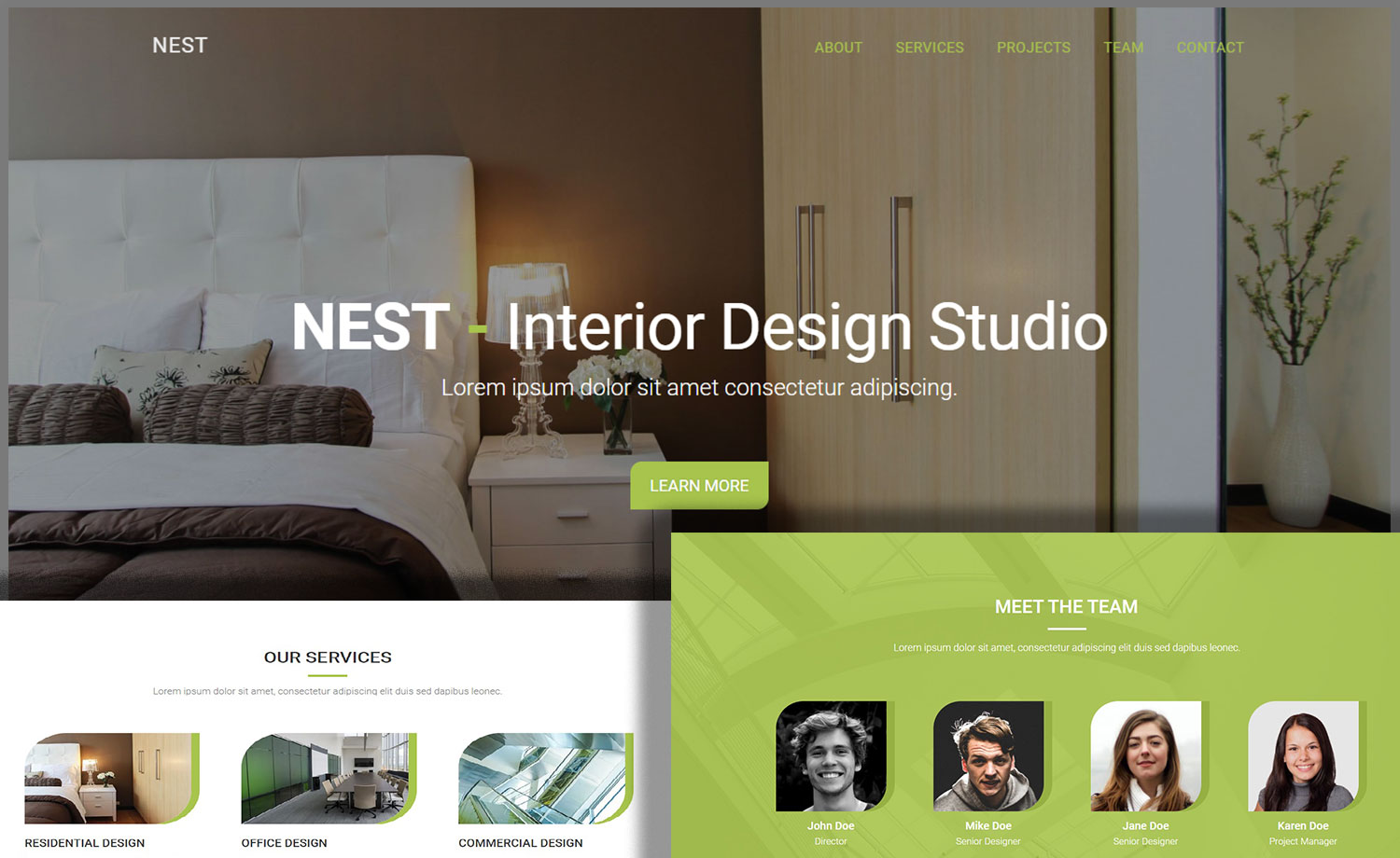 Bedroom Designer Free Free One Page Interior Design Html5 Website Template For
