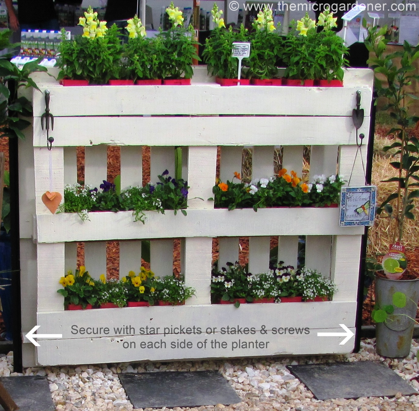 Aweinspiring Place As It Is Very Diy Pallet Planter Micro Gardener Diy Pallet Herb Garden Pallet Planter Needs To Be Secured garden Diy Pallet Herb Garden